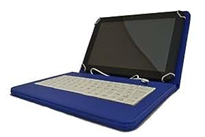 """Theoutlettablet® Funda con teclado en español extraíble color Azul con teclado en blanco para Tablet Archos Arnova / Titanium 10.1"""" ST027"""