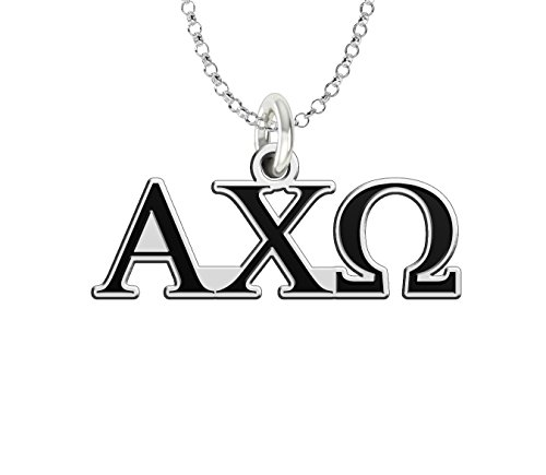 (Alpha Chi Omega Sterling Silver Antique Letters Charm)