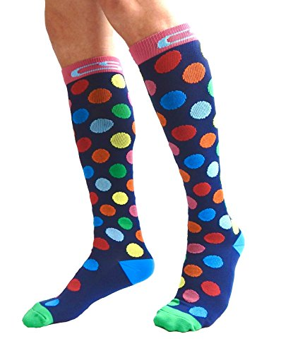 Compression Socks for Men & Women - BEST Graduated Athletic Fit for Running, Nurses, Shin Splints, Flight Travel, Maternity Pregnancy - Boost Stamina, Circulation & Recovery (Cool Dots, S/M) by Cool Sox (Image #5)