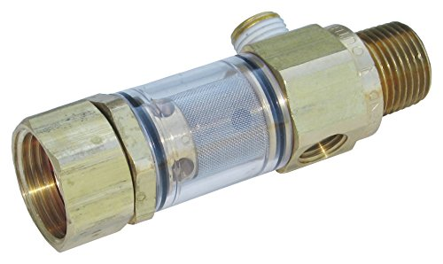 (General Pump 100651 DuraView Inlet Filter Integrated Garden Hose Nut, 8.0 GPM, 150 Maximum psi)