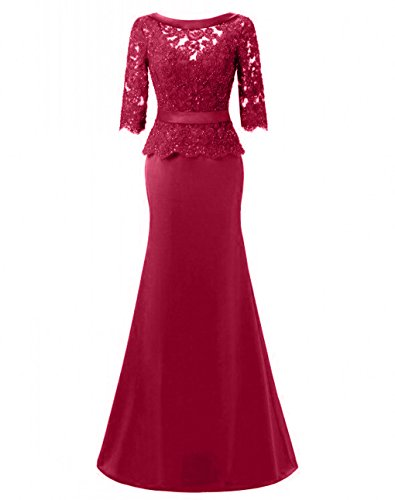Promworld Damen A-Linie Kleid Fuchsia plijm