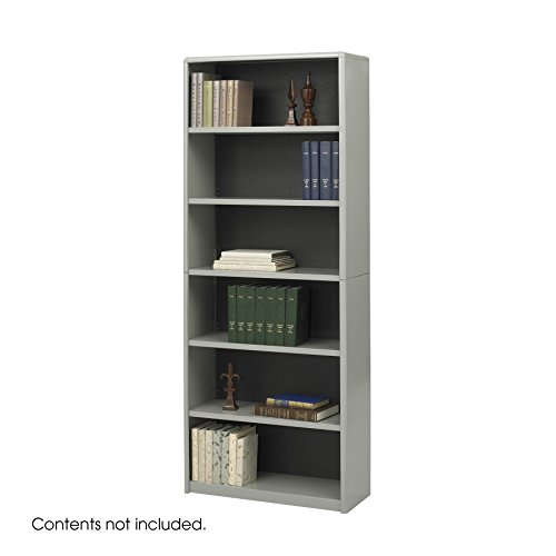 Bookcase,6-Shelf,GY