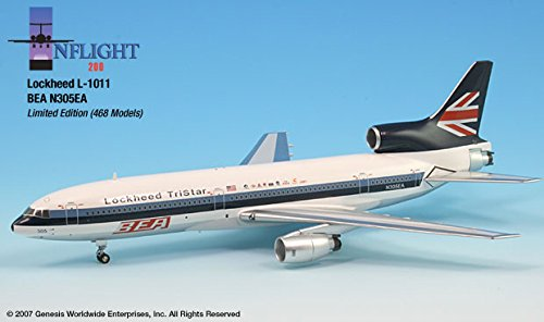 BEA Eastern Demo N305EA L1011 Airplane Miniature Model Diecast 1:200 Part# A012-IF011001