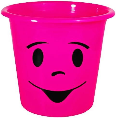 1 Stück _ Papierkorb Behälter lustiges Gesicht NEON