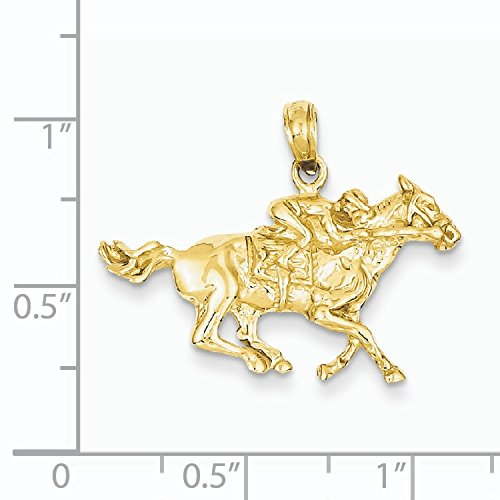 14Ct roue de cheval-dimensions :  23,1 x 27,2 mm-jewelryWeb
