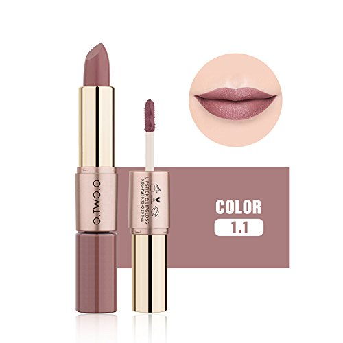 2 in 1 Matte Lipstick Lip Gloss Long Lasting Lip Moisturizer