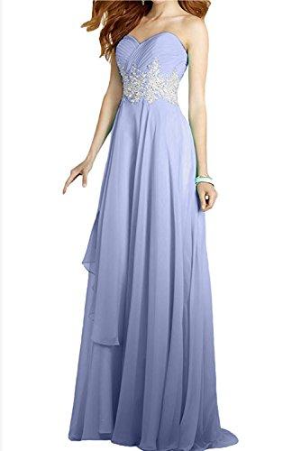 Damen 2017 Ivydressing Applikation Bodenlang Abendkleider Herzform Lavender Chiffon Ballkleider 7Fwwqzvdx