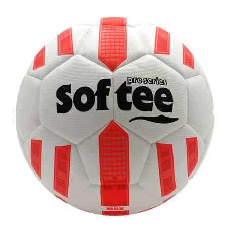 Balon Futbol HIBRIDO Softee MAX - Futbol 11 - Color Blanco Y Coral ...