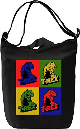 Quadruple T-Rex Borsa Giornaliera Canvas Canvas Day Bag| 100% Premium Cotton Canvas| DTG Printing|