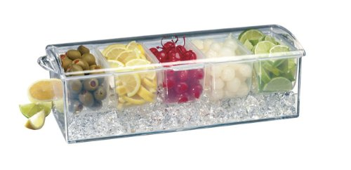 World Cuisine Cocktail (Paderno World Cuisine Bar Cocktail Container with Ice Drawer and 5 Starage Compartments)
