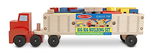 Melissa & Doug Big Rig Truck Wooden Building Set (22 pcs)