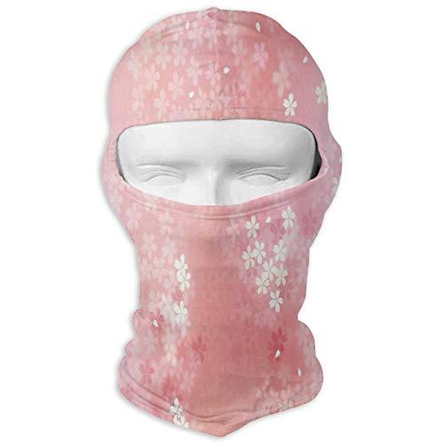 (YIXKC Balaclava Pink Sweet Flower Pattern Customized Face Mask Skiing for Men)