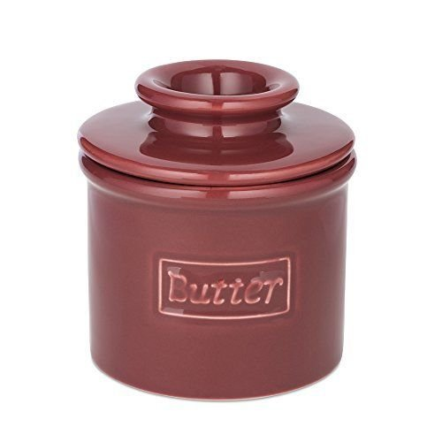 The Original Butter Bell Crock by L. Tremain, Cafe Retro Collection - Crimson