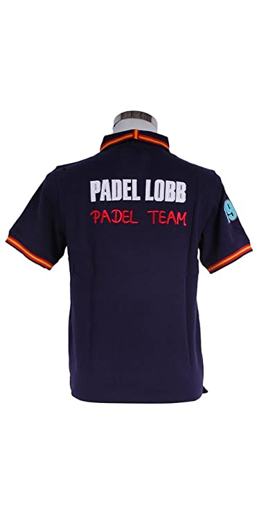 Padel Lobb - Polo padel nume, talla xxl , color marino: Amazon.es: Deportes y aire libre
