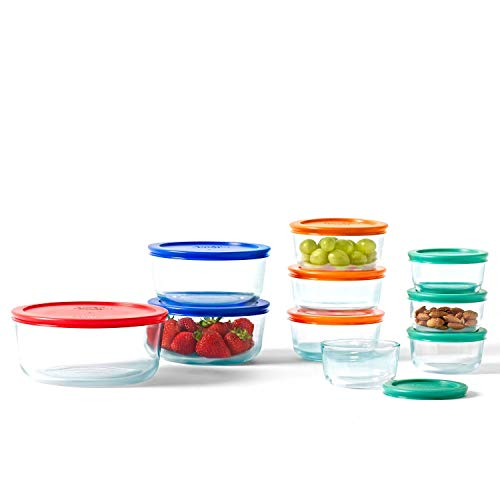 Pyrex Simply Food Store 20 Pc Set (red orange green blue)