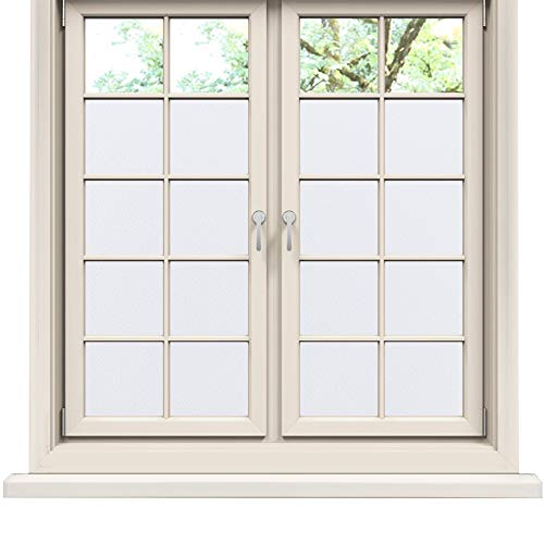 """Rabbitgoo Privacy Window Film Matte White Window Film Frosted Window Film Static Cling Glass Film Non Adhesive Window Film for Home Bathroom Office 23.6"""" x 78.7"""""""