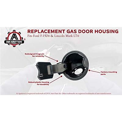 Fuel Filler Door Housing Pocket Assembly - Fits Ford F150 Models Year 2009-2014 - Replaces 9L3Z-9927936-B, 9L3Z9927936B - 2010, 2011, 2012, 2013, 2014 Lincoln Mark LT - Gas Tank Cap Door Hinge: Automotive
