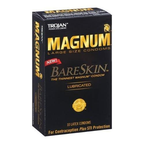trojan MAGNUM BareSkin Large Lubricated Condoms, 10 count - Buy Packs and SAVE (Pack of 6) by Trojan