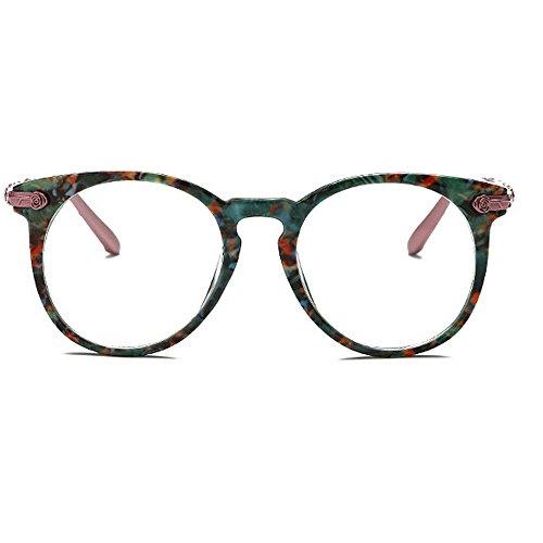 la protection de lunettes Rimmed classiques lunettes soleil UV rondes cadre la Coloré femmes soleil pour dame Rimmed de nuances pour Charme la designer lunettes soleil de de nouveauté rétro fleur Vert les w4q61BOwxU