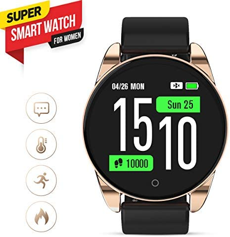 GOKOO Smart Watch, Fitness Tracker Smart Watch for Women Men with Heart Rate Blood Pressure Sleep Monitor IP67 Waterproof Sports Activity Tracker Calorie Counter Smartwatch Android 8