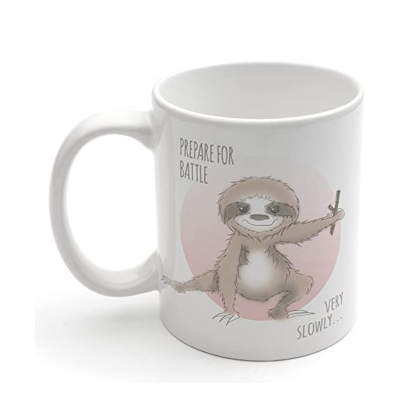 Ninja Sloth Mug Christmas Xmas Holiday Stocking Filler Secret Santa Novelty Present -