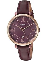 Women's ES4099 Jacqueline Three-Hand Date Wine Leather Watch