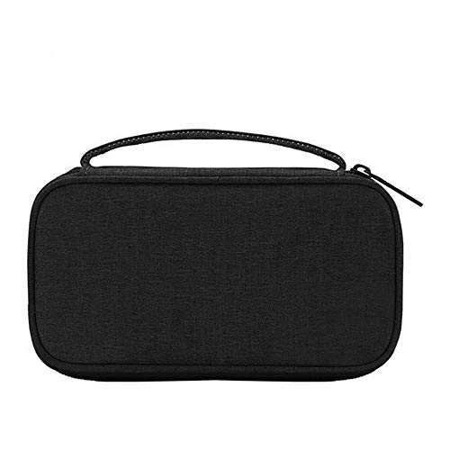 Milifeel Portable Digital Storage Bag USB Data Cable Organizer Case Earphone Wire Pouch Power Bank Travel Kit Electronics Accessories (Black) ()