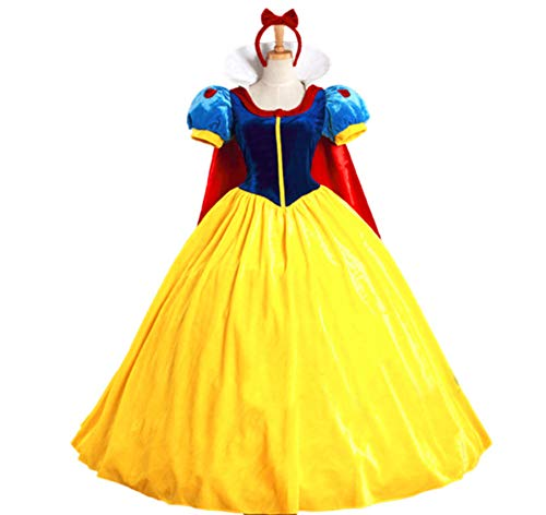 Mitef Halloween Fairy Story Classic Snow White Princess Costume for Women, S ()