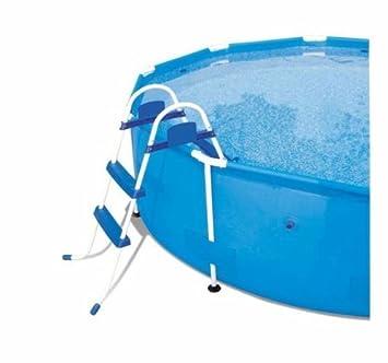 BESTWAY 58045 escala escalera de piscina fuoriterra sin plataforma ferr 260855 91 cm: Amazon.es: Jardín