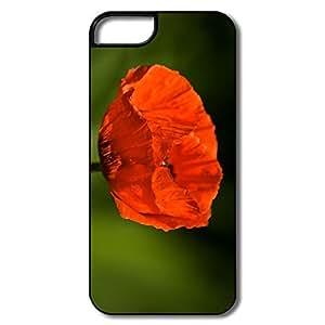 IPhone 5S Cases, Poppy Macro White/black Case For IPhone 5