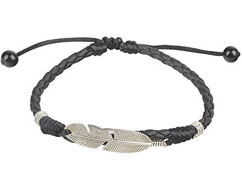 Ancient Tribe Handmade Adjustable Black Leather Anklet (9#)