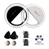 RC Selfie Ring Light 2 Pack, 36 LED Selfie Light for Phone Air Vent Mount Phone Holder,Dust-Plug,Pouch Compatible with iPhone 8 X iPad Samsung Galaxy S7 Edge Huawei P9 P20 Makeup Photography Camera