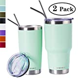 Zonegrace Seafoam 20oz and 30oz Insulated Tumblers with Lid & Gift Box | Stainless Steel Coffee Cup | Double Wall Vacuum Insulated Travel Coffee Mug with Splash Proof slid lid