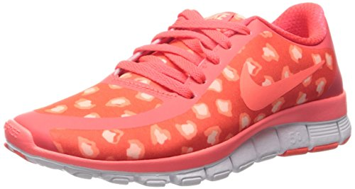 Nike Free 5.0 Tr Fit 4, Women's Trainers Rot (Bright Citron/Ht Lava/Snst Glw)