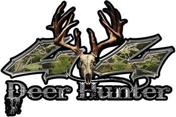 Deer Hunter Twisted Series 4x4 Truck Bedside or Fender Emblem Decals in Camouflage
