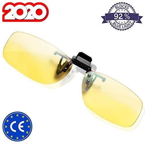 KLIM™ OTG - Gafas de Clip para Bloquear la luz Azul - Nuevas - Alta proteccion Frente a la Pantalla - Gafas Gaming para PC, movil, TV - Anti Fatiga, Anti luz Azul - Filtran la luz Azul