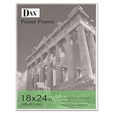 DAX 18 by 24-Inch Contemporary U-Channel Poster Frame with Plexiglas Window, Clear