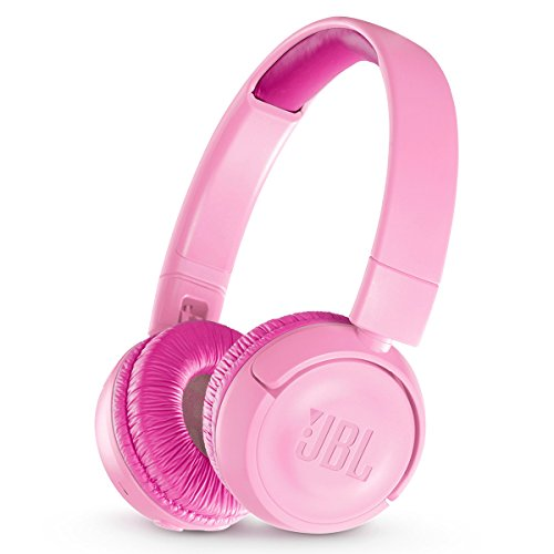 JBL JR 300BT Kids On-Ear Wireless Headphones with Safe Sound Technology (Pink)