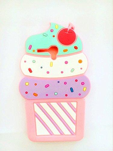Cute 3D Cherry Ice Cream Silicone Soft Case Bumper Back Cover For Alcatel One Touch Fierce XL 5054