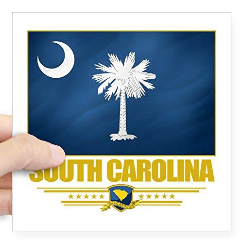 CafePress South Carolina (Flag 10) Square Sticker 3 X 3 Square Bumper Sticker Car Decal, 3