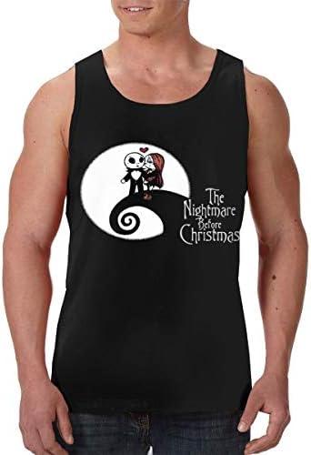 The Nightmare Before Christmas3 メンズ 印刷 袖なしク シャツ 筋肉シャツ レーニング ティーズ 吸汗速乾