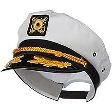 Captain's Yacht Sailors Hat Snapback Adjustable Sea Cap NAVY Costume Accessory (1 Pc)
