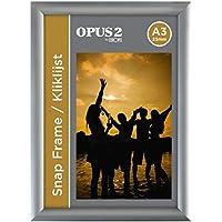 OPUS 2 Porte affiche mural A3, Profil de 25mm, Cadre Aluminium - 355003