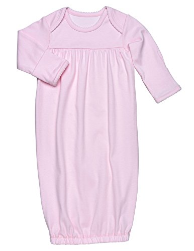 (Under the Nile Baby Girl Gown Size 0-3M Solid Pink Organic)