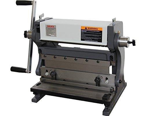 KAKA Industrial 3-In-1/305 Sheet Metal Brake, 12-Inch Shear Brake Roll Combinations, Solid Construction, High Precision Sheet Metal Brakes, Shears and Slip Roll Machine