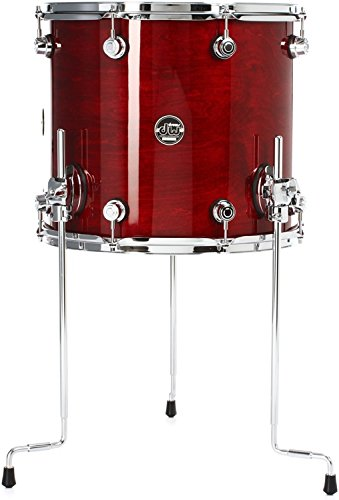 Lacquer Floor - DW Performance Series Floor Tom - 14 Inches X 16 Inches Cherry Stain Lacquer