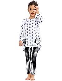 32c653aaf806 Little Girls Clothing Sets Bunny Long Sleeve Outfits 2 PCS Top Leggings  Pajamas Sets