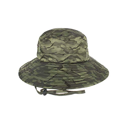 TIANMI Unisex Fashion Summer Outdoor Sun Hat Summer Travel Bucket Fishing Cap Mesh Hat Drying Casual Green