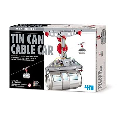 ScienceLAB 4M Mechanics Kit - Tin Can Cable Car: Toys & Games