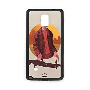 Samsung Galaxy Note 4 Cell Phone Case Black Breaking Bad Heisenber Illustration LSO7867423